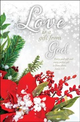Love is Gift from God (James 1:17) Winter Wedding Bulletins, 100
