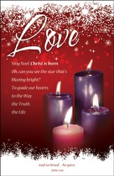 Love (John 3:16) Advent Bulletins, 100