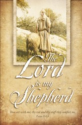 Lord is My Shepherd (Psalm 23:1-4) Bulletins, 100