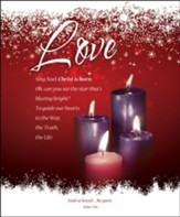 Love (John 3:16) Large Advent Bulletins, 100 - Slightly Imperfect