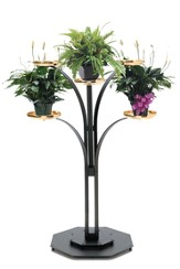Black Brass-tone Contemporary Floor Plant Stand (48)