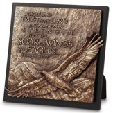 Eagle In Flight Sculpture Plaque
