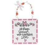 All Things Blossom with a Mother's Love Plaque