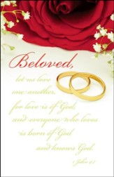 Love Is Of God (1 John 4:7, NKJV) Wedding Bulletins