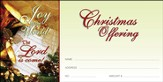 Joy to the World the Lord is Come, Christmas Offering Envelopes, 100