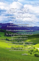 The Lord Is My Shepherd (23rd Psalm) Bulletins, 100