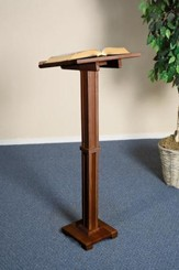Standing Lectern, Hardwood Maple with Walnut Finish