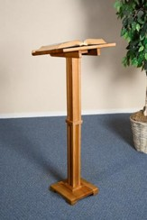 Standing Lectern, Hardwood Maple with Pecan Finish
