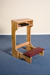 Padded Kneeler, Hardwood Maple with Pecan Finish