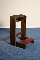 Folding Kneeler, Hardwood Maple with Walnut Finish