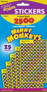 Merry Monkeys SuperSpot Stickers Value Pack
