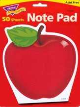Shiny Red Apple Note Pad Shaped