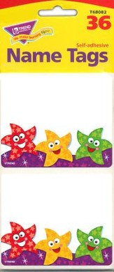 Dancing Stars Name Tags