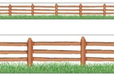 Farm Fence Bolder Borders