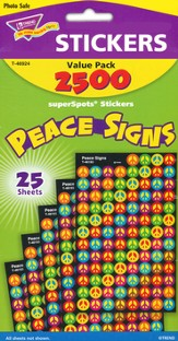 Peace Signs SuperSpot Stickers Value Pack