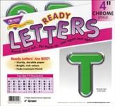 Green 4 In. Colorful Chrome Uppercase Ready Letters