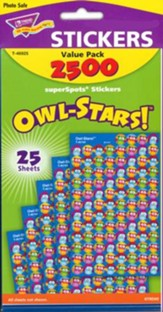 Owl-Stars! SuperSpot Stickers Value Pack