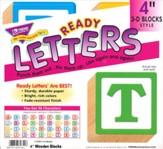 Wooden Blocks 4 In. 3-D Combo Ready Letters