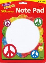 Peace Signs Note Pad Shaped