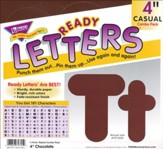 Chocolate 4 In. Casual Combo Ready Letters