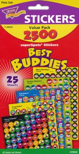 Best Buddies Collection SuperSpots Stickers Variety Pack