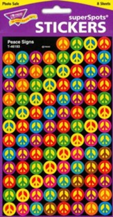 Peace Signs SuperSpot Stickers