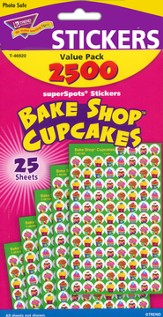Bake Shop Cupcakes SuperSpots Stickers Variety Pack