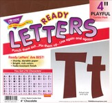 Chocolate 4 In. Playful Combo Ready Letters