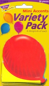 Party Balloons Mini Variety Pack Classic Accent