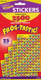 Frog-tastic! SuperSpot Stickers Value Pack