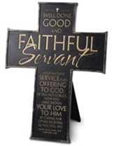 Faithful Servant Cross, Black