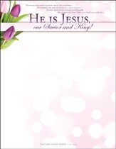 He Is Jesus (Luke 24:34) Easter Letterhead, 100