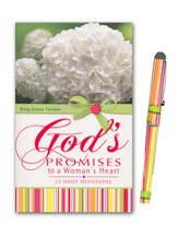 God's Promises to a Woman's Heart Book and Pen Gift Set