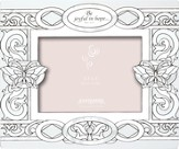 Be Joyful in Hope Glass Photo Frame