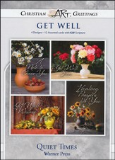 Quiet Times, Box of 12 Assorted Get Well Cards