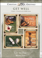 Up to Par, Box of 12 Assorted Get Well Cards