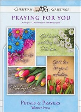 Petals & Prayers, Box of 12 Assorted Thinking of You Cards