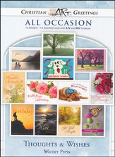 Thoughts and Wishes, Box of 12 Assorted All Occasion Cards
