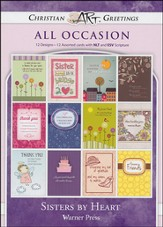 Sisters By Heart, Box of 12 Assorted All Occasion Cards
