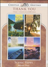 Scenic Views, Box of 12 Assorted Thank You Cards