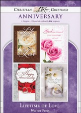 Lifetime of Love, Box of 12 Assorted Anniversary Cards