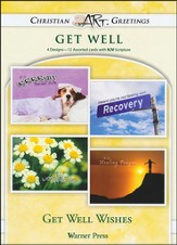 Get Well Wishes, Box of 12 Assorted Get Well Cards