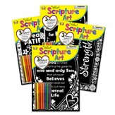 Velvet Scripture Art Series, 4-Pack