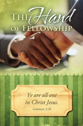 Hand of Fellowship (Galatians 3:28 ) Bulletins, 100