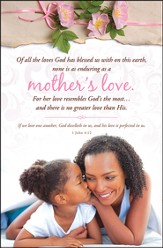 A Mother's Love (1 John 4:12) Bulletins, 100