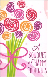 Bouquet of Happy Thoughts, Postcards (1 Thessalonians 1:2) Pack of 25