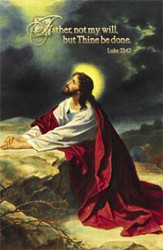 Christ at Gethsemane (Luke 22:42) Bulletins, 100