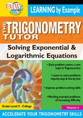 Trigonometry Tutor: Solving Exponential and Logarithmic Equations DVD