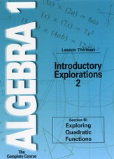 Algebra 1 - The Complete Course: Introductory Explorations 2 DVD