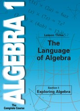 Algebra 1 - The Complete Course: The Language of Algebra DVD